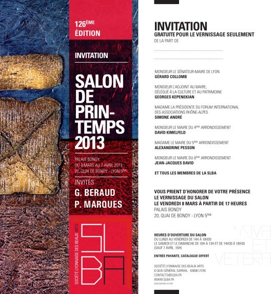 Invitation au Salon de Printemps